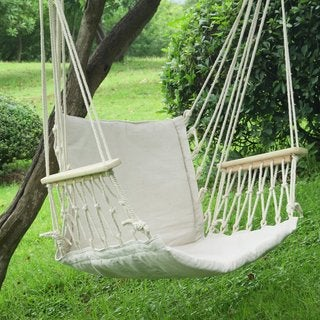 Adeco Two-Person Hammock Chair, Natural Color