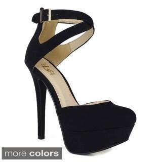 Fahrenheit Women's 'Divina-28' High-heel Platform Pumps
