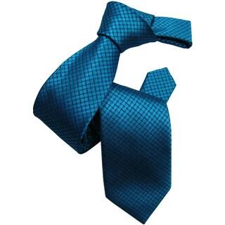 Dmitry Men's Teal Patterned Italian Silk Tie