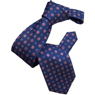Dmitry Men's Blue Polka Dot Italian Silk Tie
