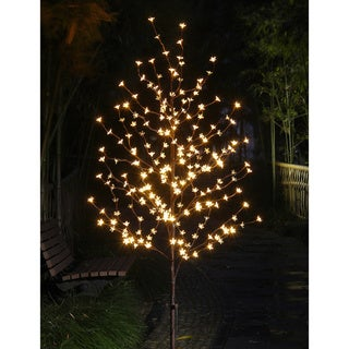 Lightshare 6-foot 208-light Warm White LED Blossom Tree with Free 20-light LED C7 Decoration Light