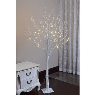 Lightshare 5.5-foot 72 LED Twinkling White/ Blue Birch Tree with Icicles