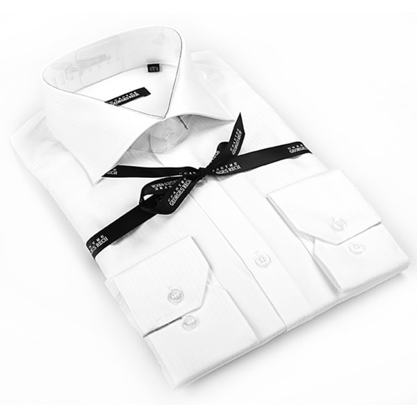 George Rech Men's White Button Down Fashion Shirt