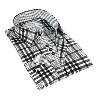 John Lennon Men's Dress Black Long Sleeve Sport Shirt