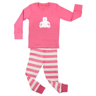 Girls' Teddy Bear 2-piece Pajama Set