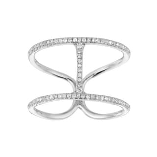 14k White Gold 0.201ct Diamond 'H' Ring (G-H, I1)