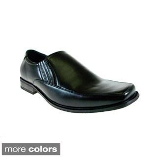 Delli Aldo Men's Square Toe Dress Loafers