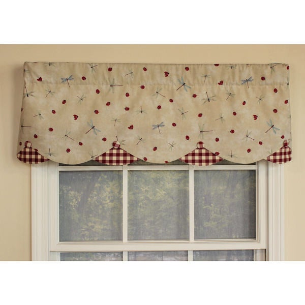 Fly Away Cream Petticoat Window Valance
