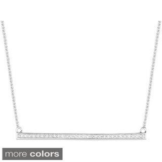 14k Rose Gold 0.134ct Diamond Trapeze Bar Necklace (G-H, I1)