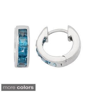 Gioelli Sterling Silver Princess-Cut Gemstones endless Earrings