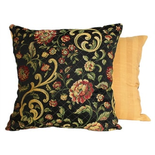 Golden Scrolls Midnight Throw Pillows (Set of 2)