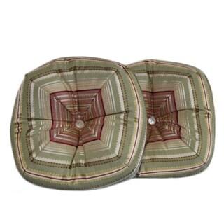 Ribbon Stripe Sage Pillows (Set of 2)
