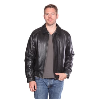Christian Reed Men's 'Easton' Leather Bomber Jacket