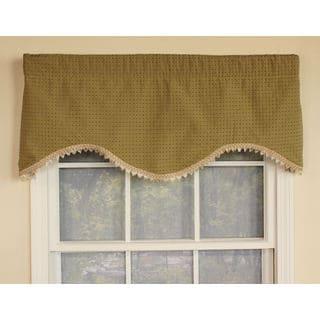 Speckled Green Cornice Window Valance