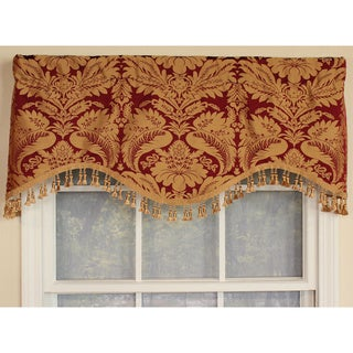 Queen's Damask Fire Gold Cornice Window Valance