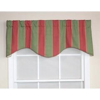 Parlor Stripe Watermelon Cornice Window Valance