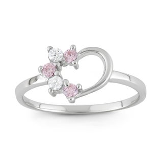 Junior Jewels Sterling Silver Cubic Zirconia Heart Ring