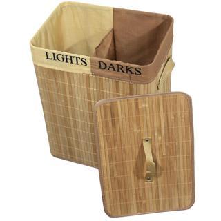 Bamboo Rectangular Folding Laundry Basket