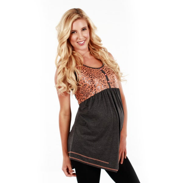 Women's Sleeveless Leopard Print Tunic