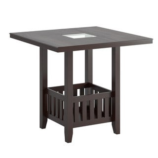 CorLiving Bistro Counter Height Dark Cocoa Dining Table with Storage
