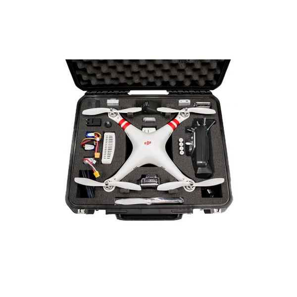 Go Professional Cases DJI Phantom Case for Quadcopter and GoPro Cameras