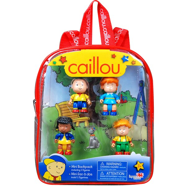 Imports Dragon Caillou Mini Red Backpack