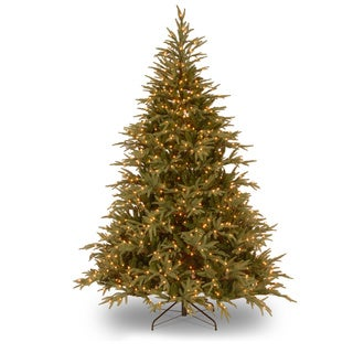 6-foot Feel Real Fraser Grande Hinged Tree with 800 Dual White to Multi-Colored LED Lights