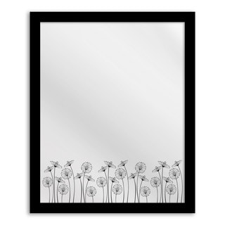 Blooms Floral Hanging Mirror Wall Art