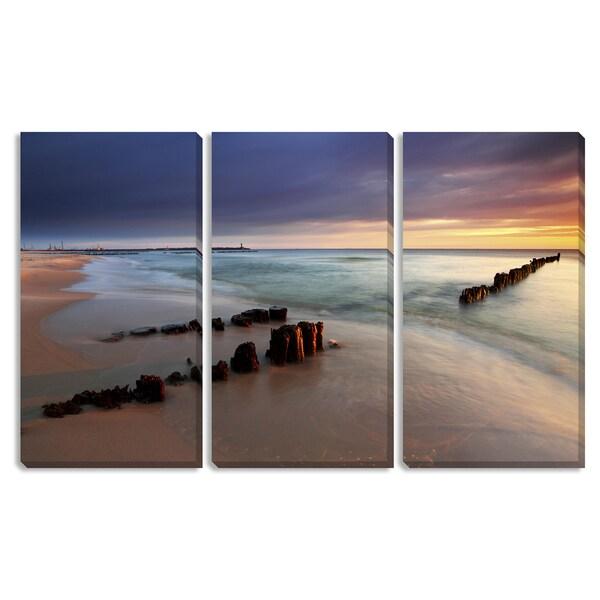 Beach Sunrise Triptych Art