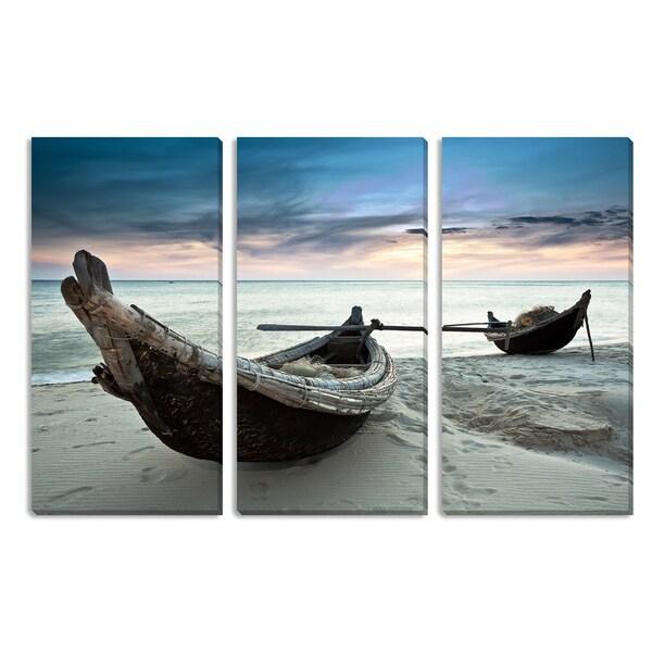 Boats Triptych Art