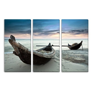 Gallery Direct Boats Triptych Art