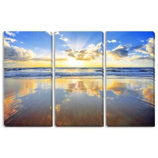 Golden Beach Triptych Art