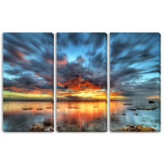 Prod Numerik's 'Sunset over the Lagoon' Triptych Art