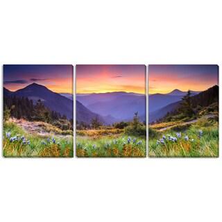 Gallery Direct Leonid Tit 'Mountain Landscape' Triptych Art
