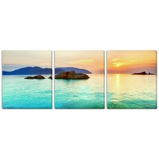 Olga Khoroshunova's 'Ocean Sunrise' Triptych Art