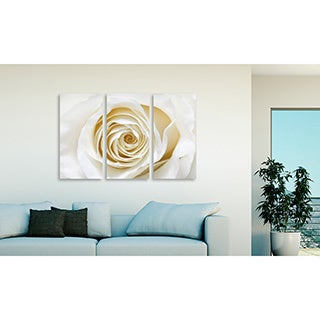 Gallery Direct Timaj's 'White Rose' Triptych Art
