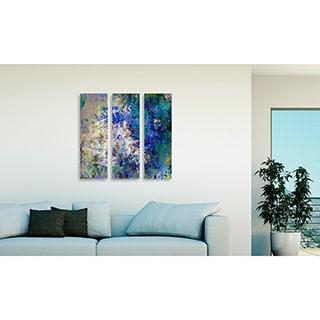 Gallery Direct Bittedankeschon 'Rhythm' Triptych Art