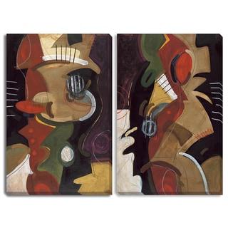 Gallery Direct Jensen's 'Arriving I' Triptych Art