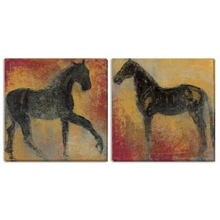 "Gallery Direct Maeve Harris' ""Furioso I"" and ""II"" Canvas Art Set"