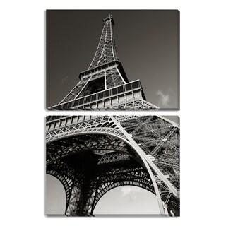 Eiffel Tower Diptych Canvas Art