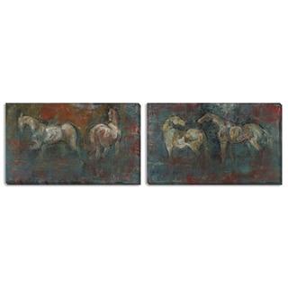 "Gallery Direct Maeve Harris' ""Paddock I"" and ""II"" Canvas Art Set"