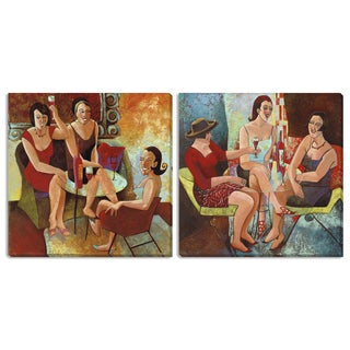 Gallery Direct Cecile Broz's 'Ladies Night Out' and 'It's 5 O'clock Somewhere' Canvas Art Set