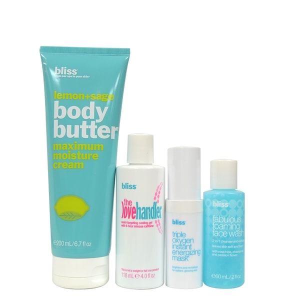 Bliss Crown Jewel 4-piece Skin Care Kit