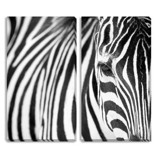 Gallery Direct Davy Liger's 'Zebra' Diptych Art