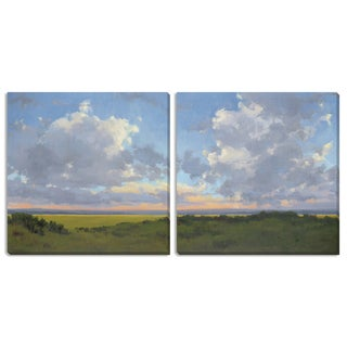 "Kim Coulter's ""Afternoon Sky I"" and ""II"" Canvas Art Set"