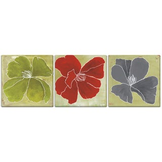 "Laura Gunn's ""Color Study II"", ""III"" and ""IV"" Three Piece Canvas Set"