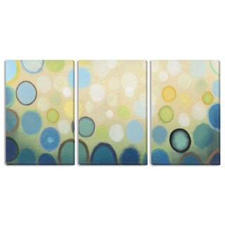 "Gallery Direct Sean Jacobs' ""Sea Mist I"" Triptych Canvas Art"