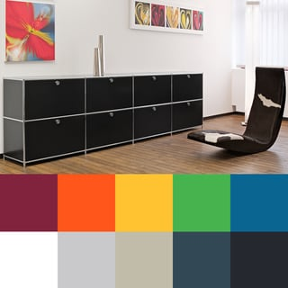 Prestigious Elite Steel Side Board, TV Media Unit or Office Filing Credenza