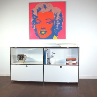 System4 Prestigious Elite Steel Side Board, TV Media Stand or Office Filing Credenza