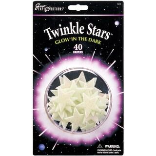 Glow In The Dark Pack-Twinkle Stars 40/Pkg